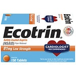 Ecotrin Safety Coated Enteric Aspirin, 81 mg Low Strength