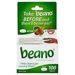 Beano Food Enzyme Dietary Supplement, Tablets
