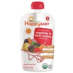 Happy Baby Organic Baby Food: Stage 3 / Meals, 7+ Months, Beef