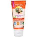 Badger Broad Spectrum SPF 30 Kids Zinc Oxide Sunscreen Cream, Tangerine Vanilla