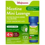 Walgreens Nicotine 4MG Mint Mini-Lozenges- 135 ea