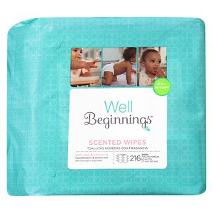 Walgreens Well Beginnings Premium Baby Wipes Refill, Scented, 216 ea
