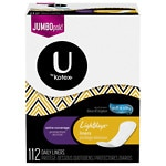 Kotex Natural Balance Light Days Liners, Unscented Long, Extra Coverage