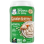 Gerber Organic Oatmeal Whole Grain Cereal- 8 oz