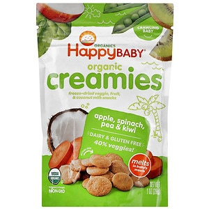 Happy Baby Organic Creamies, Apple, Spinach, Pea & Kiwi- 1 oz