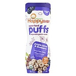 Happy Puffs Organic Puffs Finger Food for Babies, Purple Carrot and Blueberry- 2.1 oz