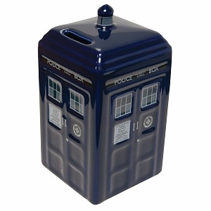 Doctor Who TARDIS Ceramic Money Bank Ages 5+- 1 ea