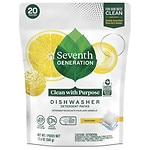 Seventh Generation Automatic Dishwasher Detergent Pacs, Lemon