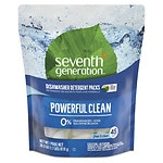 Seventh Generation Automatic Dishwasher Detergent Pacs, Free & Clear- 45 Each