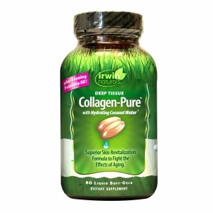 Irwin Naturals Deep Tissue Collagen-Pure with Hydrating Coconut Water, Softgels- 80 ea