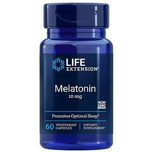 Life Extension Melatonin 10mg, Capsules, 60 ea
