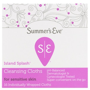 Summer's Eve Cleansing Cloths for Sensitive Skin, Island Splash