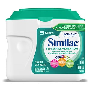 Similac For Supplementation Infant Formula with Iron, Powder- 1.45 lb