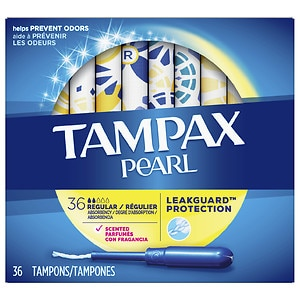 Tampax Pearl Tampons, Scented, Regular- 36 ea