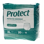 Medline Protect Extra Protective Underwear Moderate, X-Large,