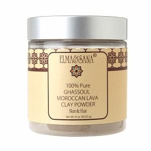 Elma&Sana 100% Pure Ghassoul Moroccan Lava Clay Powder- 8 oz