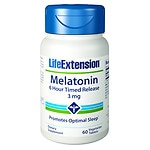 Life Extension Melatonin 3mg, Timed Release, Tablets- 60 ea