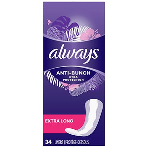 Always Xtra Protection Daily Liners, Extra Long, Unscented