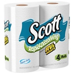 Scott Rapid Dissolve Bath Tissue, 4 pk