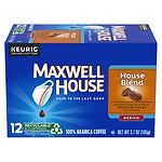 Maxwell House International Cafe Collection Ground Coffee Single Serve Cups, House Blend, 12 pk- .3 oz