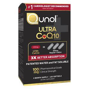Qunol 100% Natural Ultra CoQ10 100mg, Softgels- 120 ea