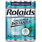 Rolaids Extra Strength Tablets, Mint- 30 ea