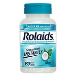 Rolaids Regular Strength Tablets, Mint- 150 ea
