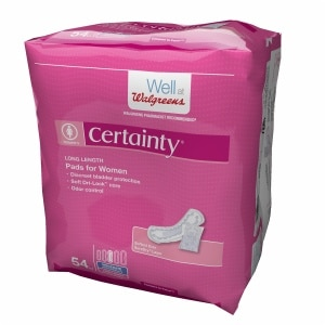 Walgreens Certainty Women's Bladder Protection Pads Long Length, 54 ea