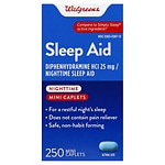 Walgreens Nighttime Sleep Aid Mini-Caplets- 250 ea