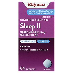 Walgreens Sleep II Nighttime Sleep Aid Tablets
