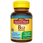 Nature Made Maximum Strength Vitamin B-12 5000mcg, Softgels