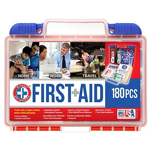 Be Smart Get Prepared First Aid Kit, 180 Pieces
