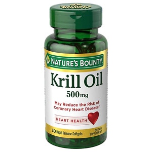 Nature 39 s bounty red krill oil 500mg softgels for Fish oil 500mg