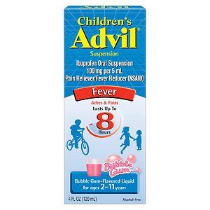 Children's Advil Ibuprofen Fever Reducer/Pain Reliever Oral Suspension, Bubblegum