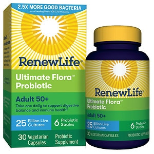 ReNew Life Ultimate Flora Adult 50+ Daily Probiotic 25 Billion, Delayed Release Capsules