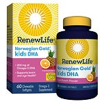ReNew Life Norwegian Gold Kids DHA Chewables, Fruit Punch