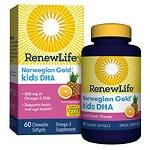 ReNew Life Norwegian Gold Kids DHA Chewables, Fruit Punch