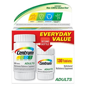 Centrum Adults Under 50 Multivitamins Bonus Size, Tablets