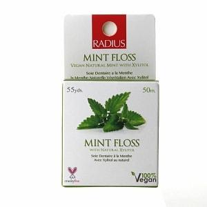 RADIUS Floss, Vegan Xylitol, Mint- 55 yd