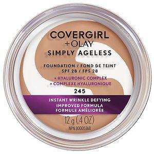 CoverGirl & Olay Simply Ageless Foundation + Titanium Dioxide Broad Spectrum SPF 28, Warm Beige