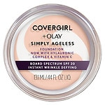 CoverGirl & Olay Simply Ageless Foundation + Titanium Dioxide Broad Spectrum SPF 28, Ivory