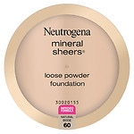 Neutrogena Mineral Sheers Loose Powder Foundation, Natural Beige 60- .19 oz