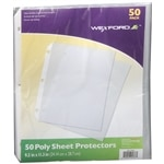 Wexford Poly Sheet Protectors, Clear- 50 ea