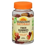 Sundown Naturals Fiber Gummies with Vitamin D3, Orange
