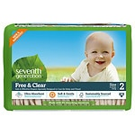 Seventh Generation Free & Clear Baby Diapers, Stage 2, 12-18 lbs,
