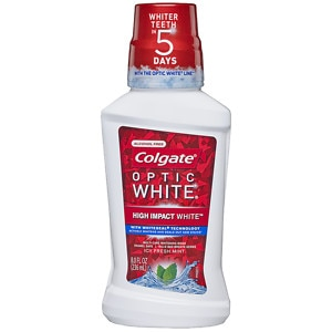 Colgate Optic White Mouthwash, Mint- 8 fl oz