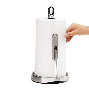simplehuman Tension Arm Paper Towel Holder, Stainless Steel,