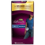 Depend Silhouette Incontinence Briefs for Women, Maximum Absorbency, Soft Peach, Large/Extra Large- 18 ea