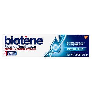 Biotene Fluoride Toothpaste, Fresh Mint Original- 4.3 oz