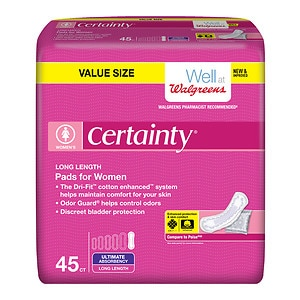 Walgreens Certainty Bladder Protection Pads for Women, Ultra Absorbancy. 45 ea, 1 ea